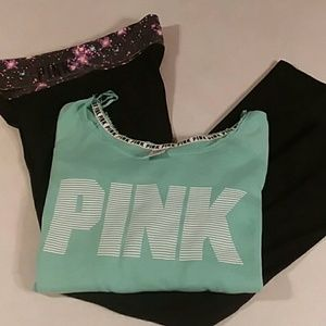 VS Pink yoga and sweater